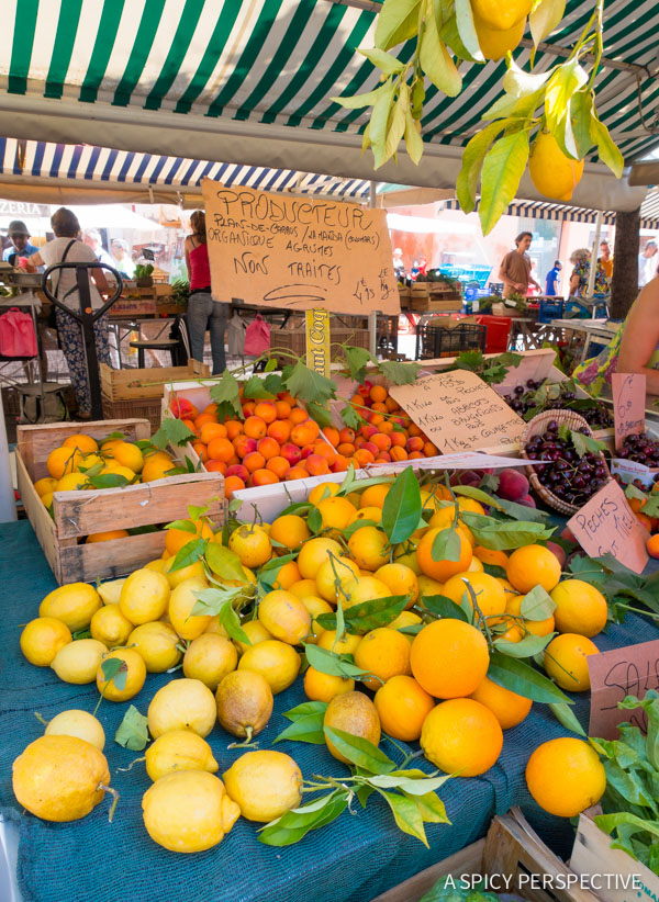 Open Markets - French Riviera Travel Tips on ASpicyPerspective.com #travel #france
