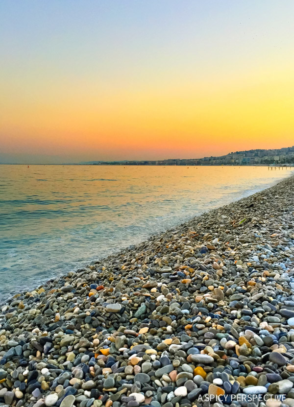 Gravel Beaches - French Riviera Travel Tips on ASpicyPerspective.com #travel #france