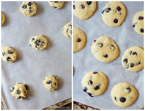 Baking Lemon Blueberry Cookies #ASpicyPerspective #Lemon #Blueberry #LemonBlueberry #WhoopiePie #Whoopie #Pie #LemonBlueberryWhoopiePie #WhoopiePieRecipe #WhoopiePieFilling #Dessert
