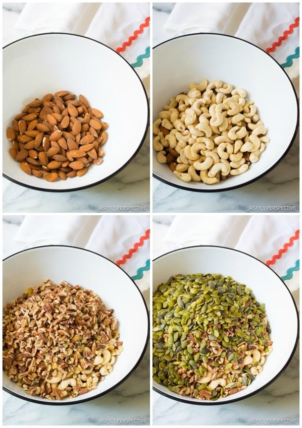 Nuts and Seeds #ASpicyPerspective #Bars #PaleoBars #NutBar #ChocolateDrizzle #Snack #Paleo #Vegan #GlutenFree