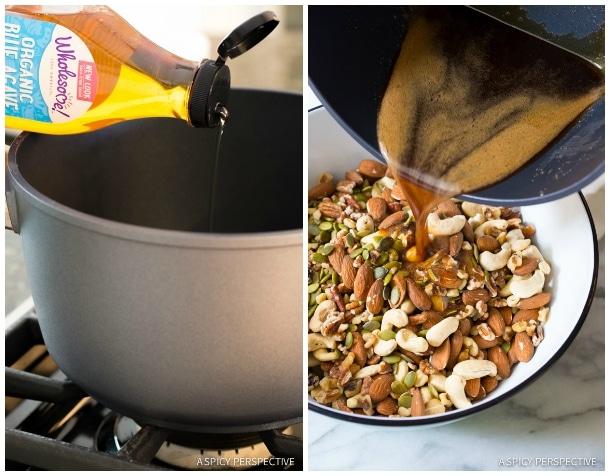 How to Make Paleo Bars #ASpicyPerspective #Bars #PaleoBars #NutBar #ChocolateDrizzle #Snack #Paleo #Vegan #GlutenFree