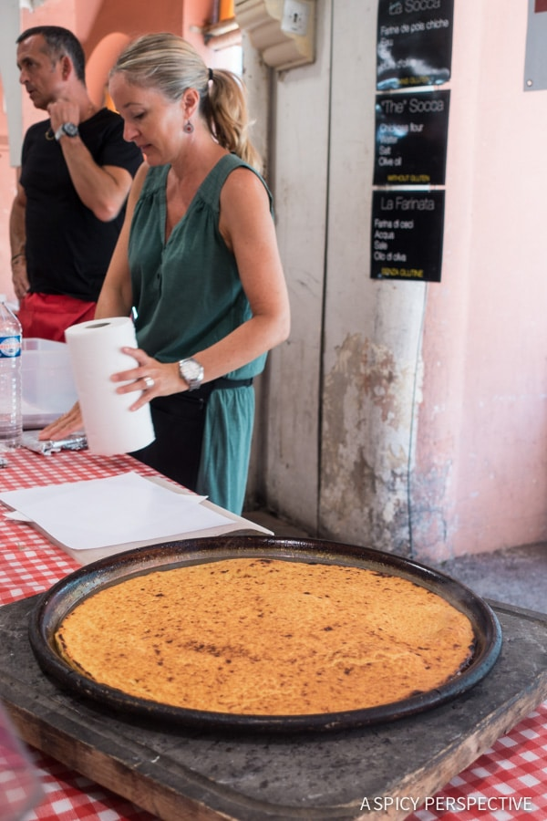 Tasting Socca in Cannes, France on ASpicyPerspective.com #travel #france