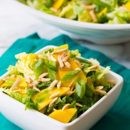 Crunchy Napa Cabbage Salad with Mango and Toasted Almonds on ASpicyPerspective.com