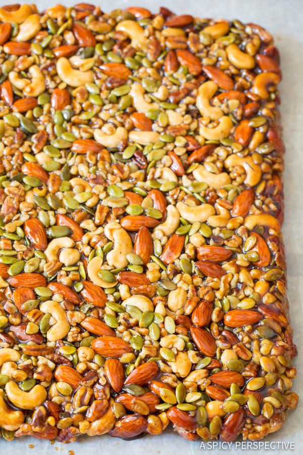 Nut Bar #ASpicyPerspective #Bars #PaleoBars #NutBar #ChocolateDrizzle #Snack #Paleo #Vegan #GlutenFree