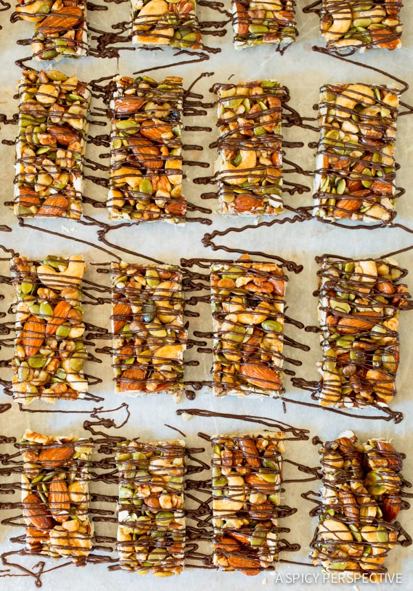 Chocolate Drizzle #ASpicyPerspective #Bars #PaleoBars #NutBar #ChocolateDrizzle #Snack #Paleo #Vegan #GlutenFree