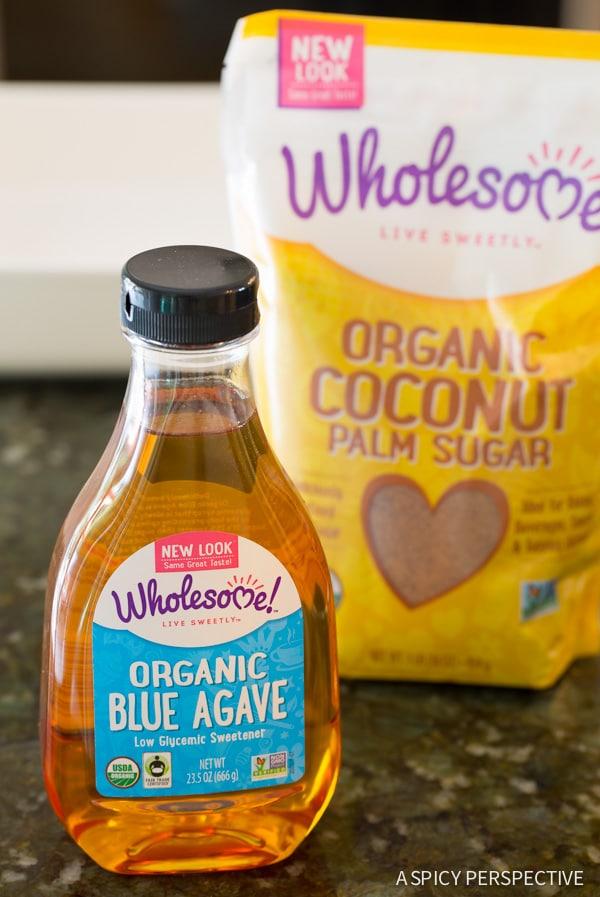 Wholesome! Organic Blue Agave #ASpicyPerspective #Bars #PaleoBars #NutBar #ChocolateDrizzle #Snack #Paleo #Vegan #GlutenFree