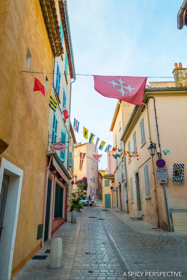 Walking in Saint Tropez, France on ASpicyPerspective.com #travel #france