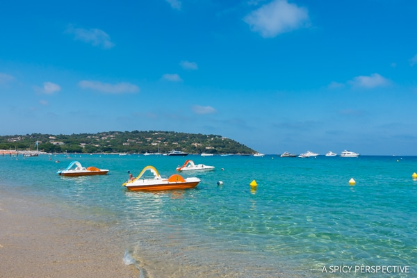 On the Sea in Saint Tropez, France on ASpicyPerspective.com #travel #france