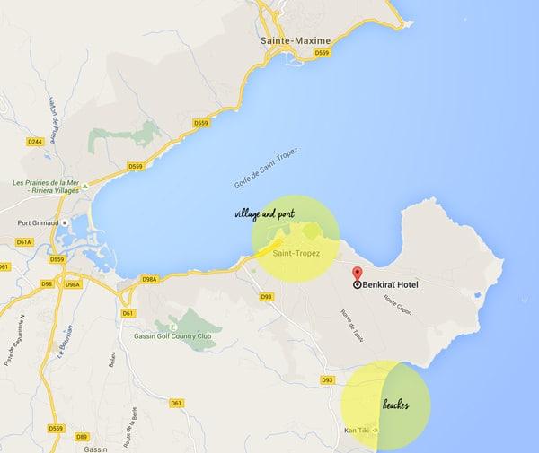 Saint Tropez Map