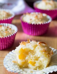 Fresh Tropical Breakfast Muffins on ASpicyPerspective.com #muffins #breakfast