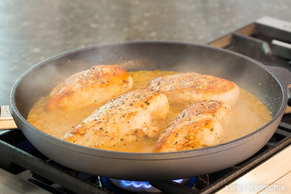 Lime Chicken Recipe #ASpicyPerspective #Chicken #Dinner #LimeChicken #LimeChickenRecipe #Garlic #Lime #SkilletChicken #GarlicLimeChicken #Skillet