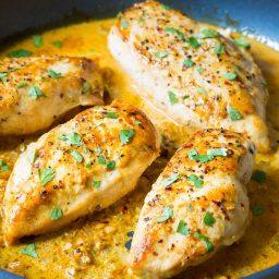 Zesty Garlic Lime Skillet Chicken on ASpicyPerspective.com