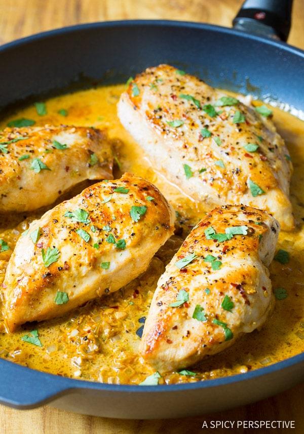 Garlic Lime Chicken #ASpicyPerspective #Chicken #Dinner #LimeChicken #LimeChickenRecipe #Garlic #Lime #SkilletChicken #GarlicLimeChicken #Skillet