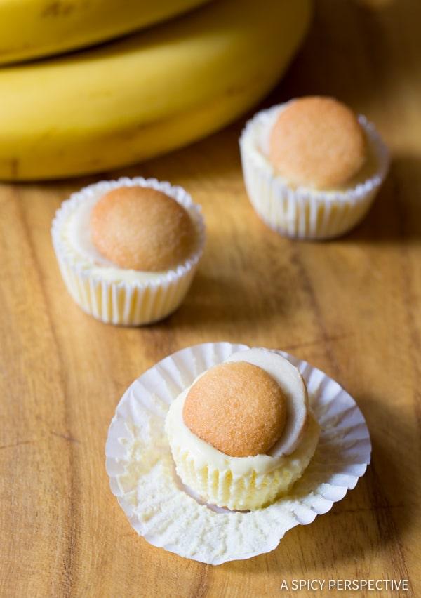 6-Ingredient Mini Banana Cream Pie Recipe (Banana Pudding Tarts) on ASpicyPerspective.com