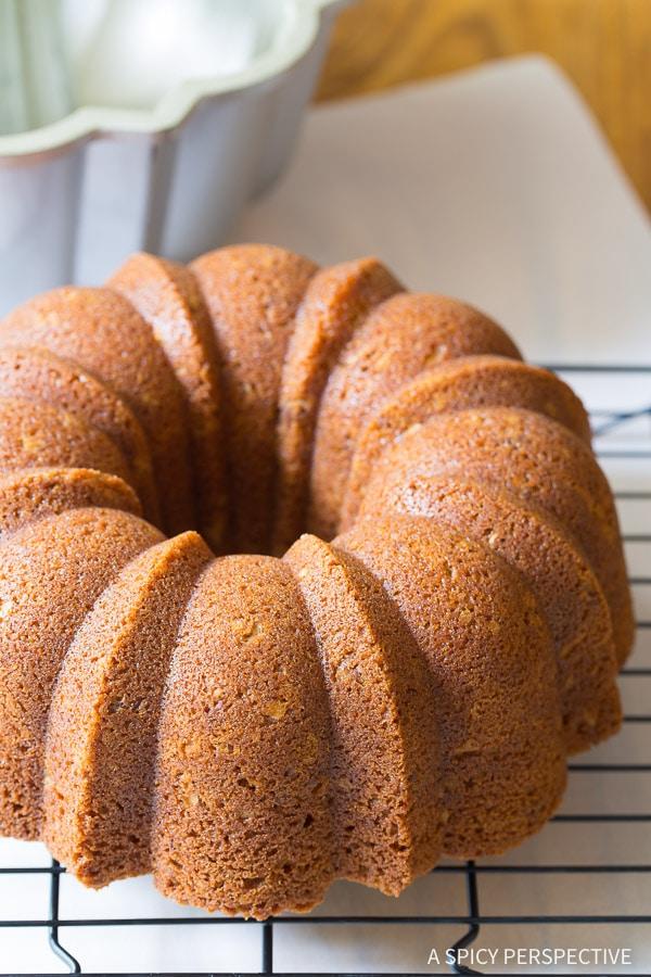 Simple Nutty Cardamom Bundt Cake with Bourbon Glaze