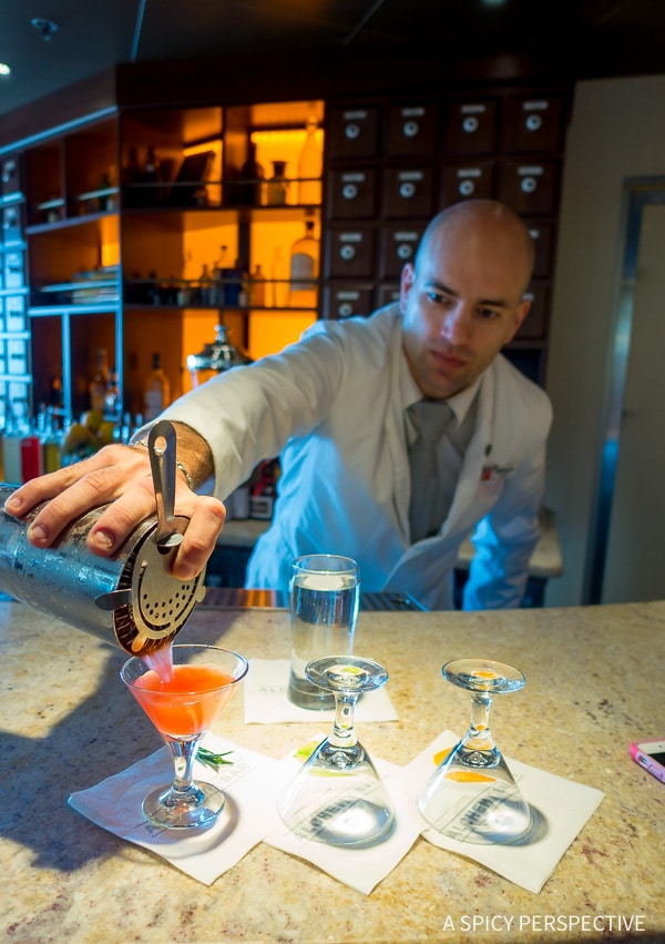 Cruising for Foodies - The Alchemy Bar on the Carnival Sunshine