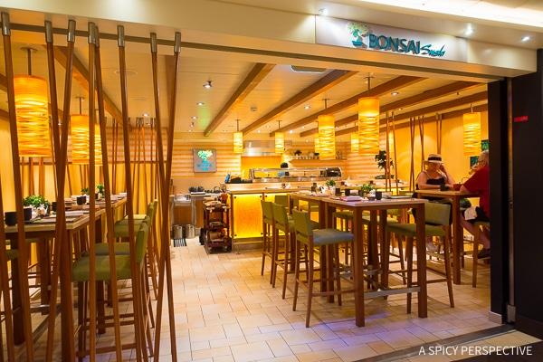 Cruising for Foodies - Bonsai Sushi on the Carnival Sunshine