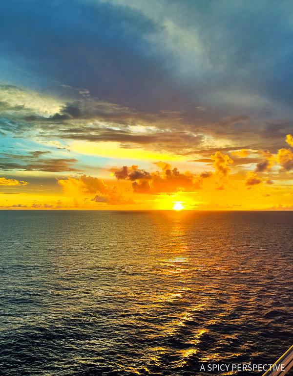 Cruising for Foodies - Carnival Sunshine Sunset