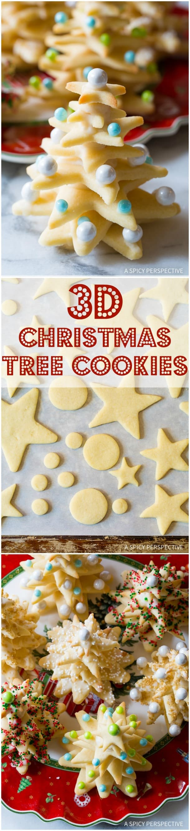 Try these amazing 3D Christmas Tree Cookies on ASpicyPerspective that make fantastic edible gifts!