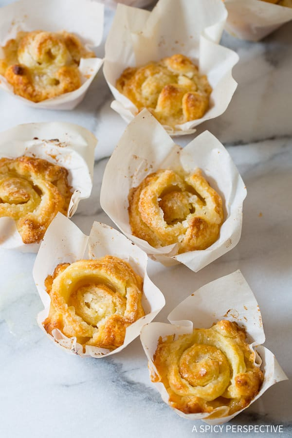 """Love these 3-Ingredient """"Cheater"""" Kouign Amann Recipe on ASpicyPerspective.com - Great for the holidays!"""