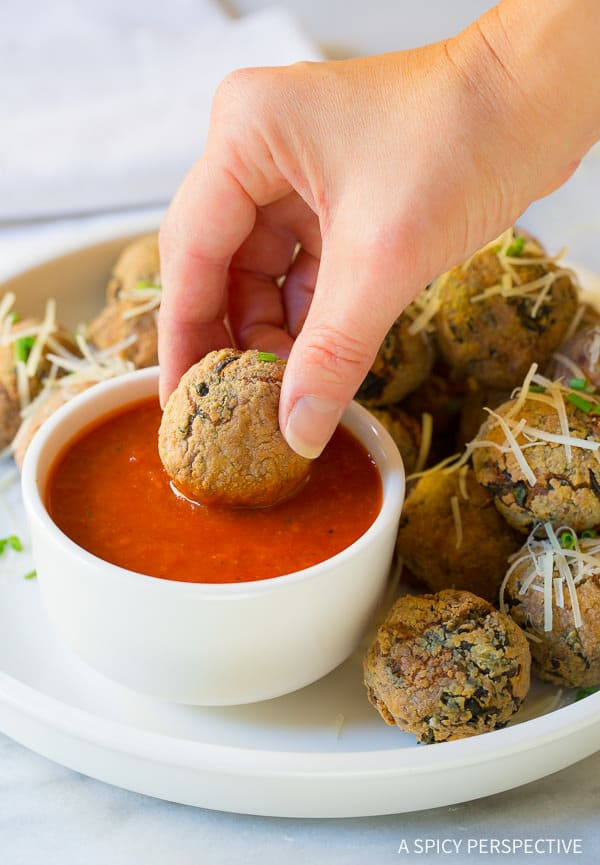 The Best-Ever Way to Use Up Holiday Leftovers: Cheater Potato Arancini Recipe on ASpicyPerspective.com