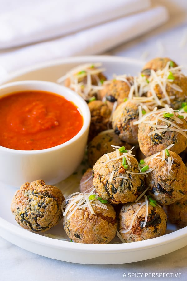 The Best Way to Use Up Holiday Leftovers: Cheater Potato Arancini Recipe on ASpicyPerspective.com