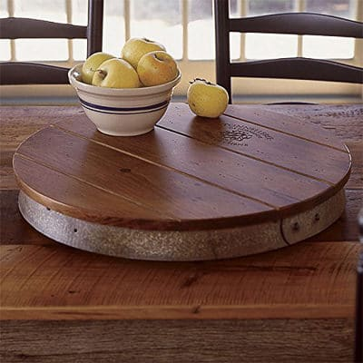 Wine Barrel Lazy Susan - Perfect Gifts for Cooks! 60 Kitchen Finds for Christmas on ASpicyPerspective.com