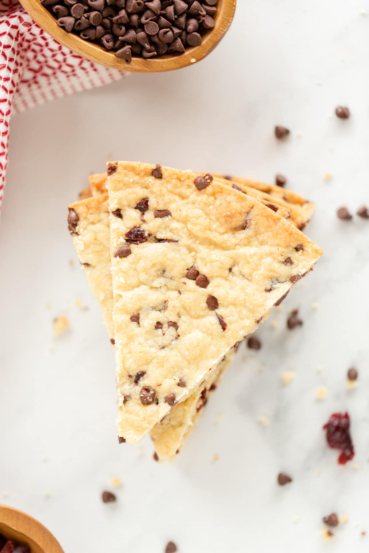 Best Cranberry Chocolate Chip Shortbread Cookies Recipe #ASpicyPerspective #christmas #holidays
