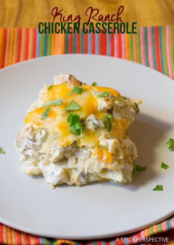 Texas King Ranch Chicken Casserole Recipe | ASpicyPerspective.com