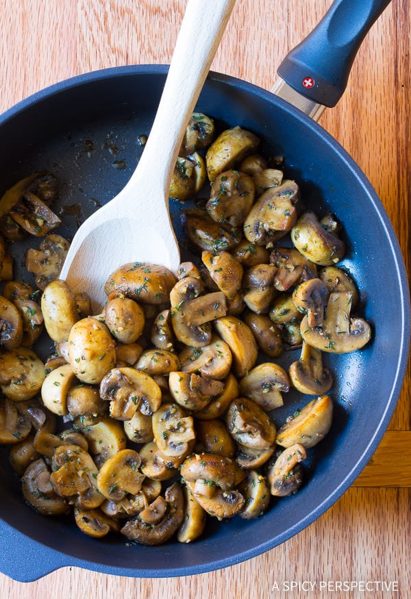 Best Sauteed Mushrooms #ASpicyPerspective #Mushrooms #SauteedMushrooms #SauteedMushroomsRecipe #MushroomRecipe #HowtoSauteeMushrooms #MushroomSideDish #SideDish