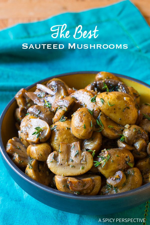 Sauteed Mushrooms #ASpicyPerspective #Mushrooms #SauteedMushrooms #SauteedMushroomsRecipe #MushroomRecipe #HowtoSauteMushrooms #MushroomSideDish #SideDish