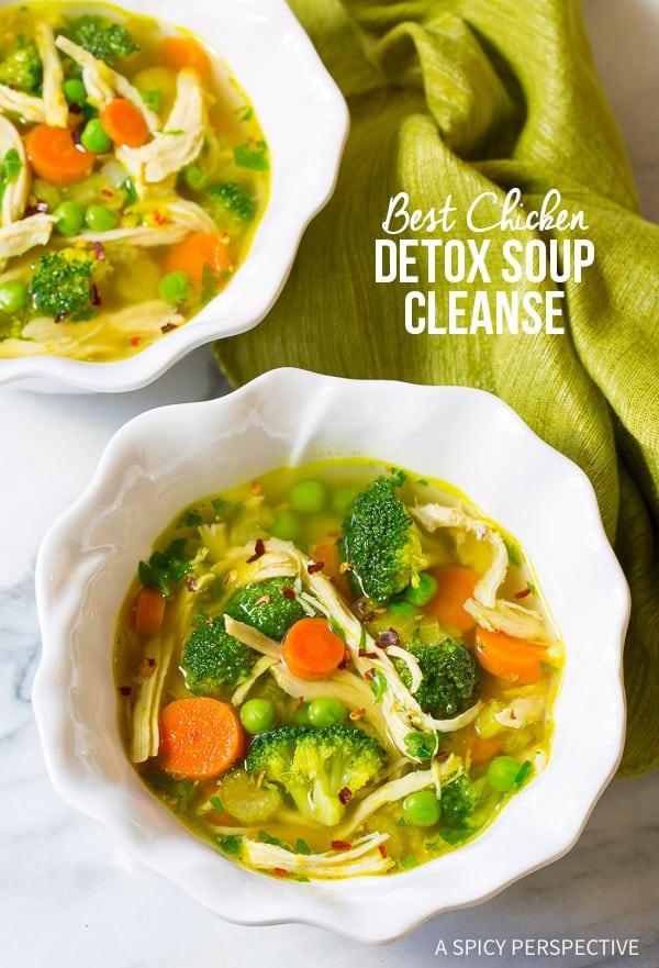 Amazing Healthy Chicken Detox Soup Recipe & Cleanse | ASpicyPerspective.com (Paleo, Gluten Free, Dairy Free)