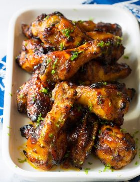 7-Ingredient Chili Lime Baked Chicken Wings | ASpicyPerspective.com