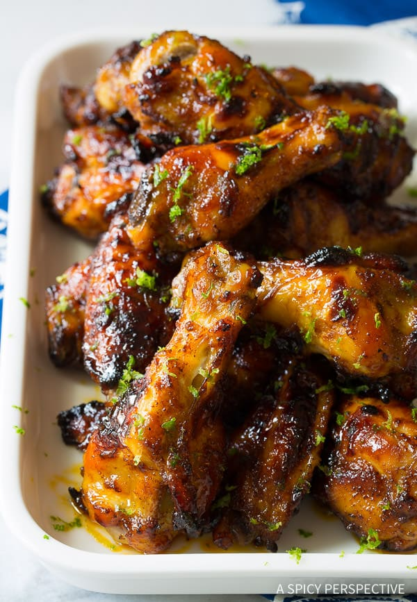 Chili Lime Baked Chicken Wings Recipe