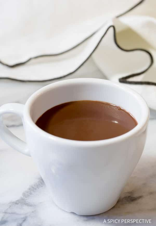 Amazing French Drinking Chocolate Recipe (Chocolat Chaud)   ASpicyPerspective.com