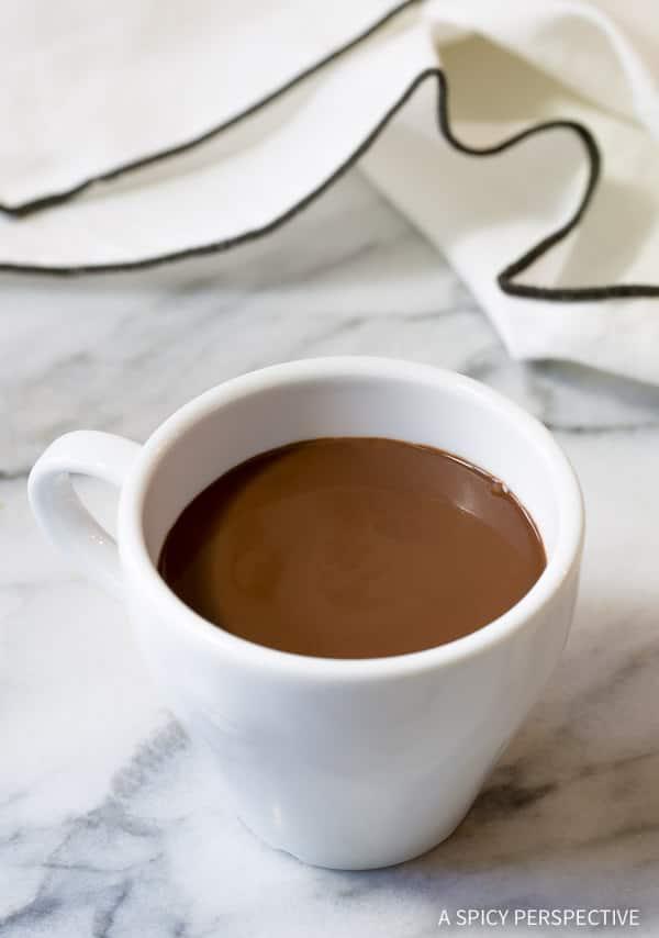 Chocolat Chaud - French Hot Chocolate Recipe (Drinking Chocolate)   ASpicyPerspective.com