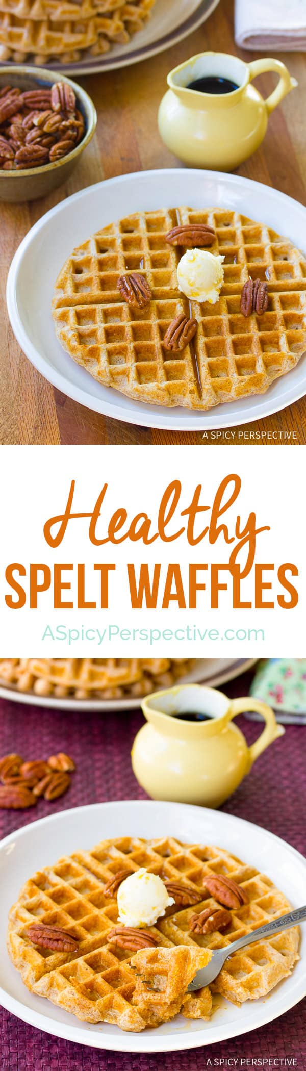 Love These Spelt Waffles | ASpicyPerspective.com