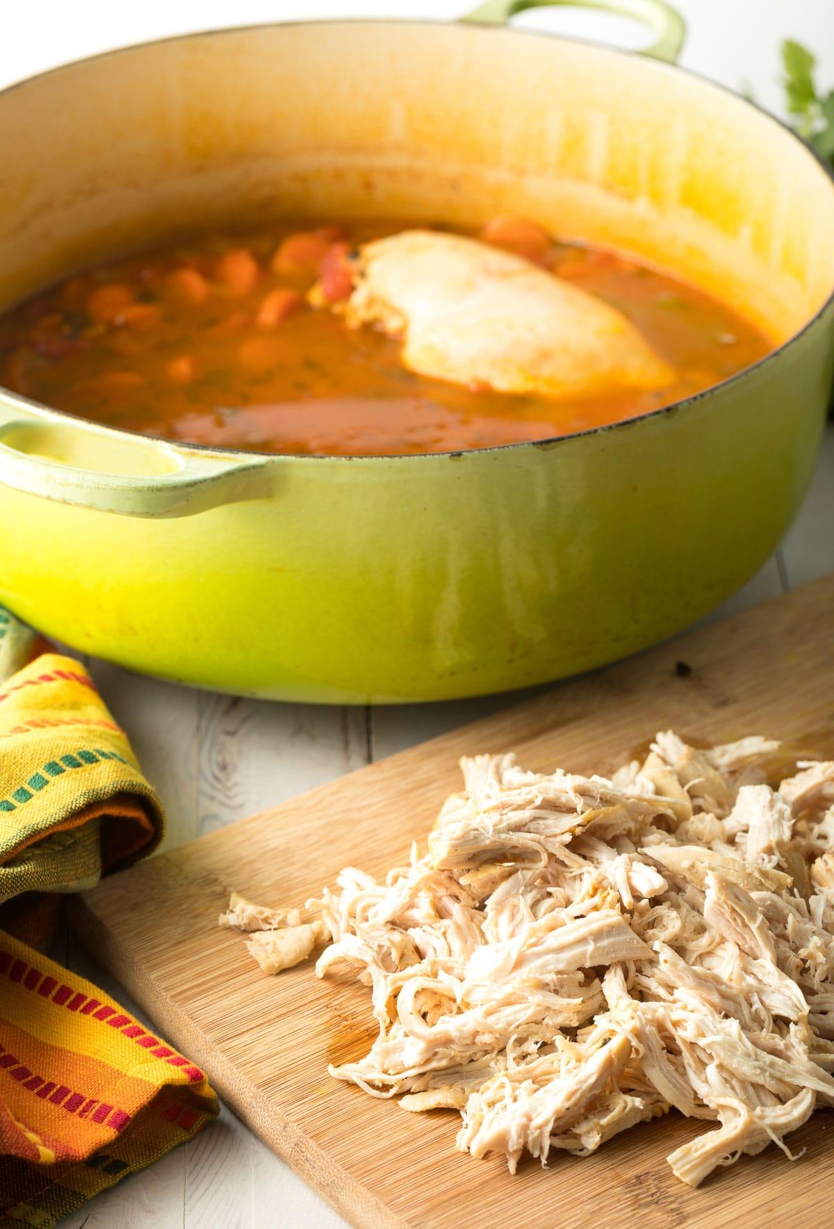 How To Make Easy Chicken Tortilla Soup Recipe #ASpicyPerspective  #instantpot #slowcooker