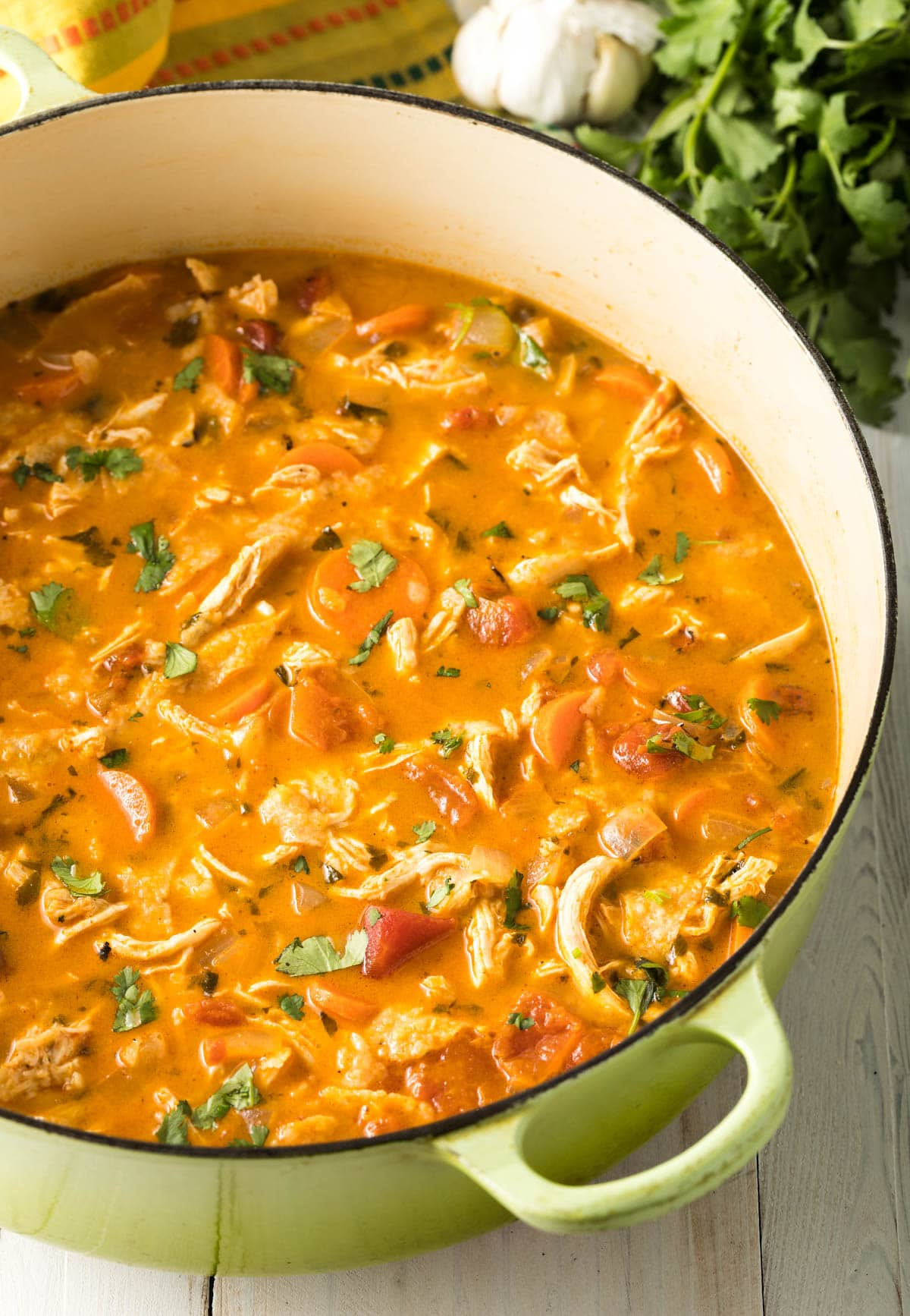 The Best Ever Chicken Tortilla Soup Recipe #ASpicyPerspective  #instantpot #slowcooker