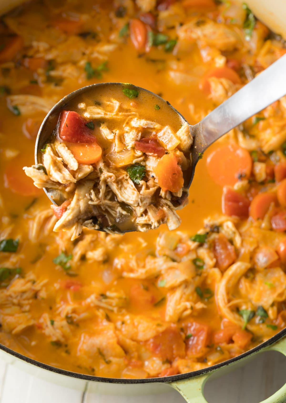 Perfect Chicken Tortilla Soup Recipe #ASpicyPerspective  #instantpot #slowcooker