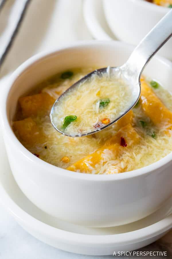 Simple Egg Drop Soup Recipe | ASpicyPerspective.com