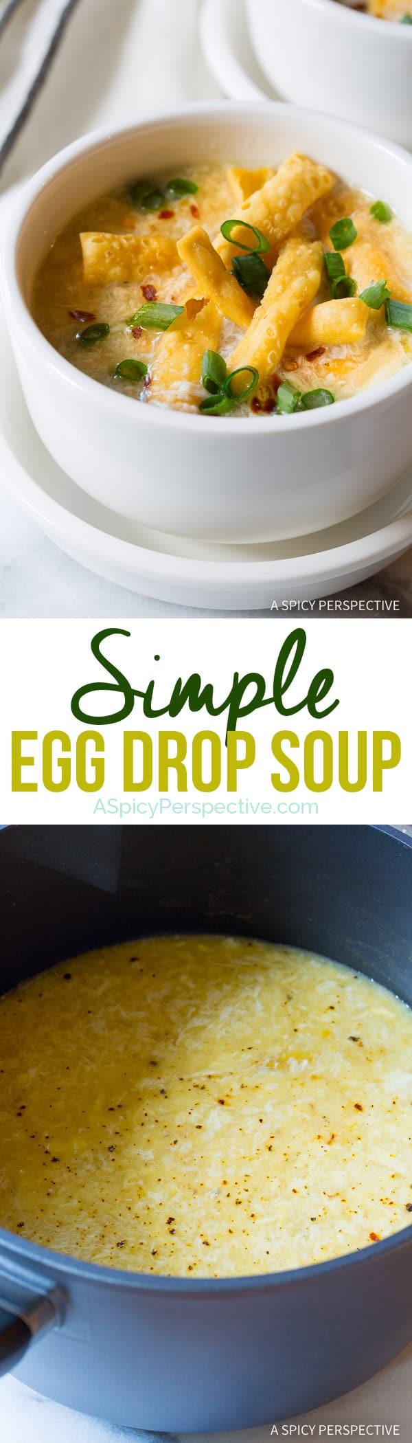 The Best Egg Drop Soup Recipe | ASpicyPerspective.com