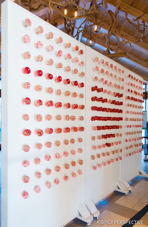 Wall of Donuts - Amelia Island, Florida Travel Planning Tips   ASpicyPerspective.com