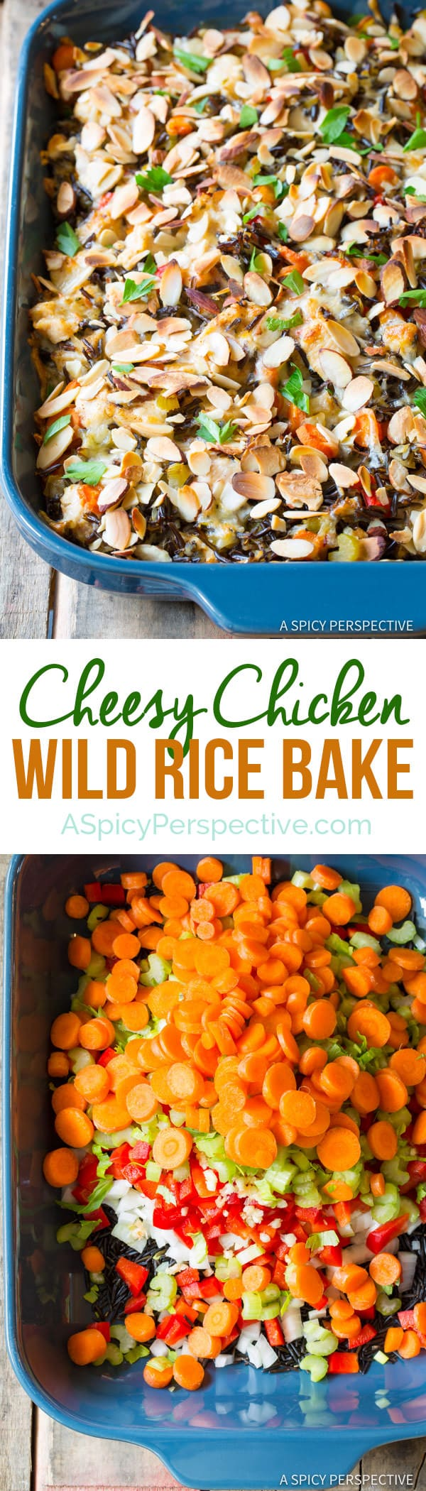 Hearty Cheesy Chicken Wild Rice Casserole   ASpicyPerspective.com