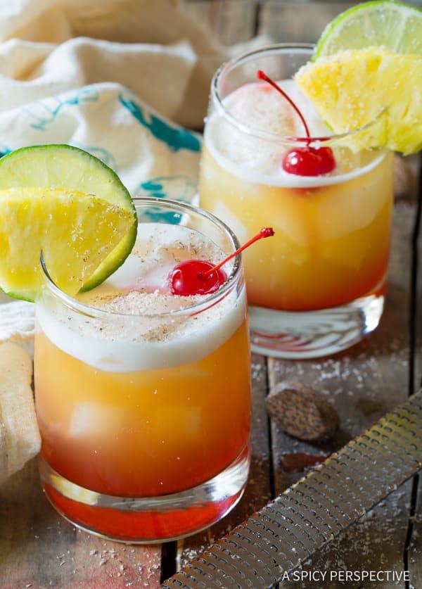 Awesome Drunken Monkey Cocktails | ASpicyPerspective.com