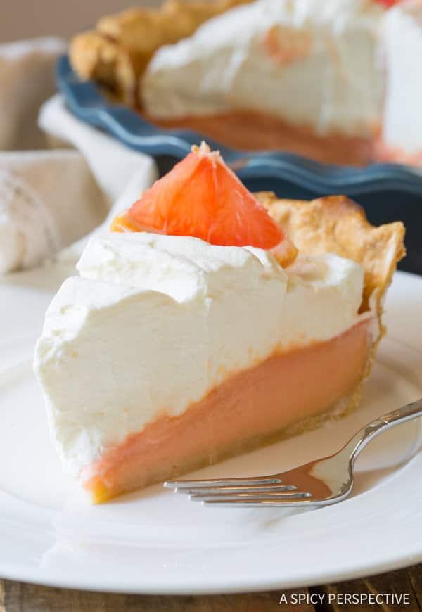 Grapefruit Cream Pie   ASpicyPerspective.com