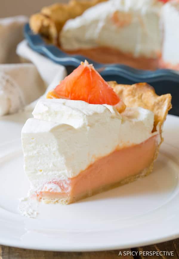 Brilliant Grapefruit Cream Pie   ASpicyPerspective.com