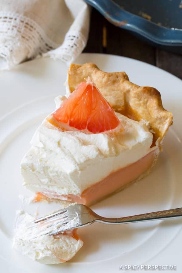 Amazing Grapefruit Cream Pie   ASpicyPerspective.com