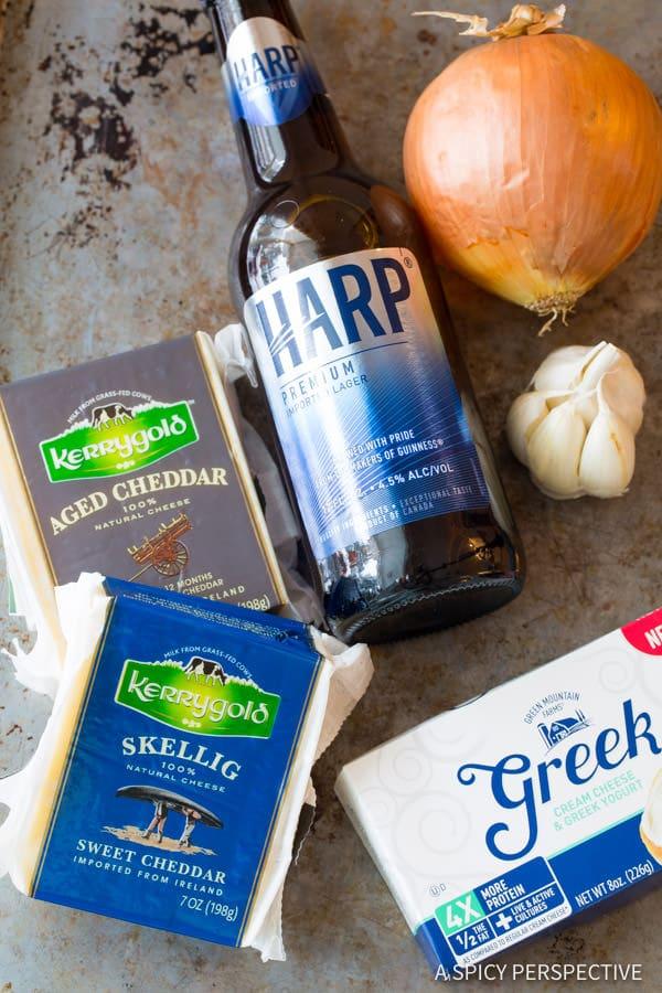 Making Irish Beer Cheese Soup Recipe | ASpicyPerspective.com