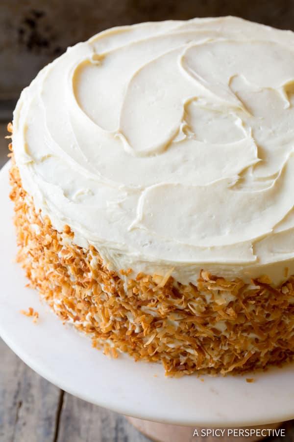 Best Carrot Cake Recipe #ASpicyPerspective #CarrotCake #Cake #Carrots  #CarrotCakeRecipe #BestCarrotCakeRecipe #Dessert #Coconut #CreamCheeseFrosting #Easter #Spring